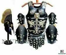 Halloween Roman Muscle Armor Cuirass Leather Set With Helmet Without STAND