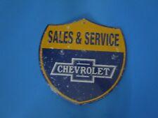 tin metal garage dealership man cave advertising decor gas oil chevrolet chevy