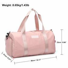 Gym Bag Workout Duffel Bag Shoe Compartment, Sport Gym Bag With Wet Pocket. Pink