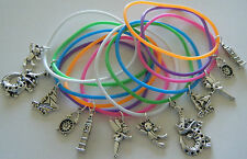 12 X PETER PAN THEME GUMMY CHARM BRACELETS PARTY BAG FILLERS ** FREEPOST**