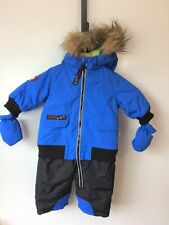 Canada Weather Gear Baby Boy's Blue Hooded Zip Up One Piece Snowsuit 6-9 Months
