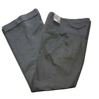 "Topshop Wide Leg Smart Grey Trousers Size 14 L32""  High Waist. Pockets"