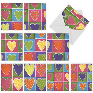 10  All Occasion Blank Cards Assortment - FROM THE HEART M6024