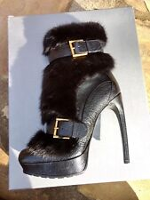 BNIB Alexander McQueen Mink Fur Limited Edition Boots sz 38 US 8 $3195