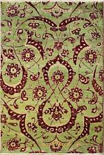 Rugstc 4x6 Senneh Chobi Ziegler Green Area Rug,Natural dye, Hand-Knotted,Wool