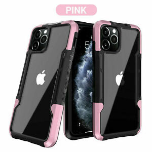 For iPhone 13 12 Pro Max 11 XS XR 8 7 Clear Case Hybrid Shockproof Bumper Cover