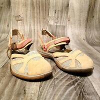 Merrell Womens Azura Wrap J65262 Sz 7 Tan Brown Mary Jane Sandals