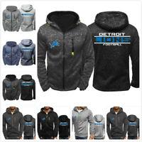 Detroit Lions Football Hoodie Zipper Sweatshirt Jacket Coat Gifts to Fans