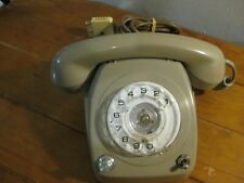 Rotary Phone - Super RETRO (Grey) With Plug - 1970s - Weighs 1.5 Kg (Untested)