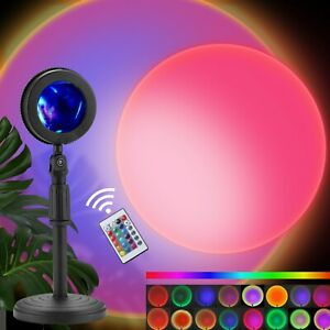 180° Rotation USB Charging Multiple Colors Sunset Lamp Projector with Remote