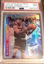 Michael Jordan Bulls 1996-97 Topps Mystery Finest Borderless Refractor 14 PSA 9