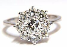1.40ct diamonds raised cluster ring 14kt