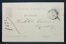 Luxembourg stationery carte postale 1885 Luxembourg ganzsache carte postale (l-1512