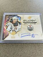 19-20 UPPER DECK SPx SUPER SCRIPT AUTO GOLD SPECTRUM OILERS - DARNELL NURSE /25