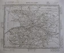 1835 Carte Atlas Géographique France Département Maine et Loire