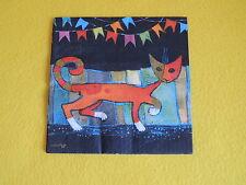 4 stück Servietten Katzen CATWALK  Rosina Wachtmeister Kunst Serviettentechnik