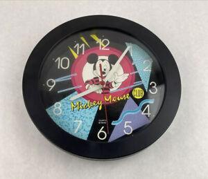 "Vintage Retro 90s Disney Mickey Mouse Club Quartz Wall Clock Tested 9.75"""