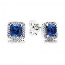 NWT AUTHENTIC PANDORA EARRINGS TIMELESS ELEGANCE TRUE BLUE #290591NBT HINGE BOX