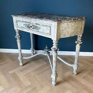 Antique Andalusian Console Table Distressed Paint Consoles Tables Spanish Patina