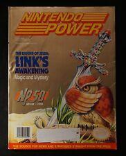 Legend of Zelda Links 1993 Nintendo Power Magazine #50 July Poster Tattoos Cards