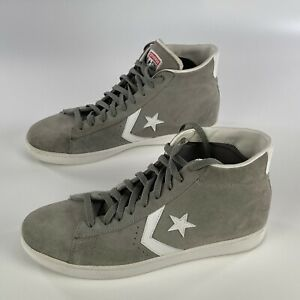 Converse All Star Pro Leather Mid Suede Phaeton Grey 135707C Mens 12 Womens 13.5