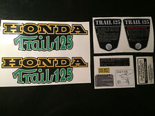 "CT70  K3 ""Trail 125""  Frame Decals Green, Graphics Full Set,    w/ KO 125 Side"