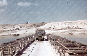 Farbdia / Dia LKW auf Brücke über Don Richtung Stalingrad in Russland selten !