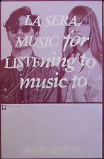 LA SERA, MUSIC FOR LISTENING TO MUSIC TO POSTER (V6)