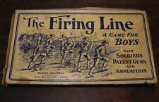 Vintage 1906 Shooting War Battle Board Game THE FIRING LINE Parker Brothers WOW!