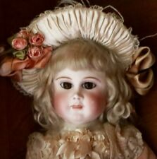 "23"" Antique Doll French Bisque Bebe by Schmitt et Fils with Original Signed Body"