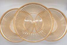 Vintage Plastic Ridged Bowls Gold Orange Set Of Three