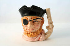 Vintage Pirate Character Head Jug Mug Tankard with Pistol Handle Made in Japan
