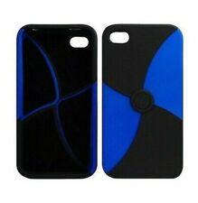 Cover Case case IPHONE 4 4S Blue / Black (4 parts)