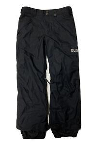 Burton DryRide Ski Pants Mens Small Black Adjustable Waterproof 32X32 Snowboard