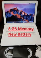 "Apple MacBook A1342 13.3"" Laptop 2.4GHz 8gb 250GB 2016 OS SIERRA, New Battery"