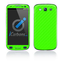 Samsung Galaxy S3 - Green Carbon Fibre skin by iCarbons