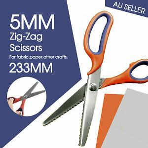Fabric Steel Dressmaking Pinking Shears Craft Zig Zag Sharp Cut Scissors Tailor