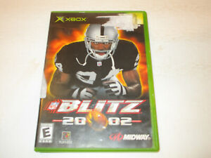 NFL Blitz 2002 for Original Xbox  Very Good Condtion With Manual Free Shipping