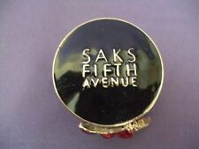 "Estee Lauder ""Pleasures"", ""Saks Fifth Avenue"" Hat Box Solid Perfume Compact"
