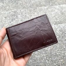 Fossil Neel Money Clip Bifold Wallet in Brown Genuine Leather for Men