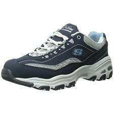 Skechers Womens Life Saver Blue Suede Athletic Shoes 6.5 Medium (B,M) BHFO 8580