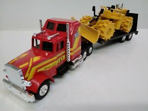 2 JOAL models 1/50 SLEEPER CAB Semi Trailer LOW LOADER TRUCK and COMPACTOR BoXeD