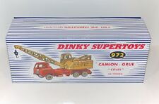 DINKY Reproduction Box 972 20-Tonnes Camion Grue 'Coles' FRENCH