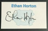 ETHAN HORTON NCAA North Carolina Tar Heels Autographed Signed 3x5 Index Card