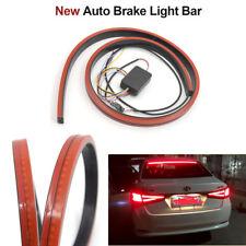 Red 100cm Car Rear Windshield Dynamic Streamer Brake Lights Warning LED Strip