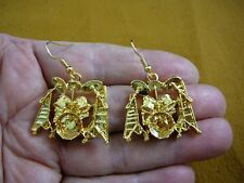 (M315-H) Ludwig DRUM set drums gold Drop Earrings pair JEWELRY percussion dangle