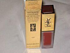 YSL # 102 LIPSTICK Tatouage Couture Metallic Lipstick $37.00 BRAND NEW 6 ML