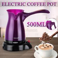 Electric Coffee Maker Turkish Espresso Moka Tea Pot Latte Machine Percolator