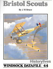 Windsock Datafile No.44 Bristol Scouts History 1/72 1/48 Markings Colors Details