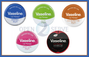 3x Vaseline Lip Balm Therapy Petroleum Jelly Pocket Size Mini Size - 20g